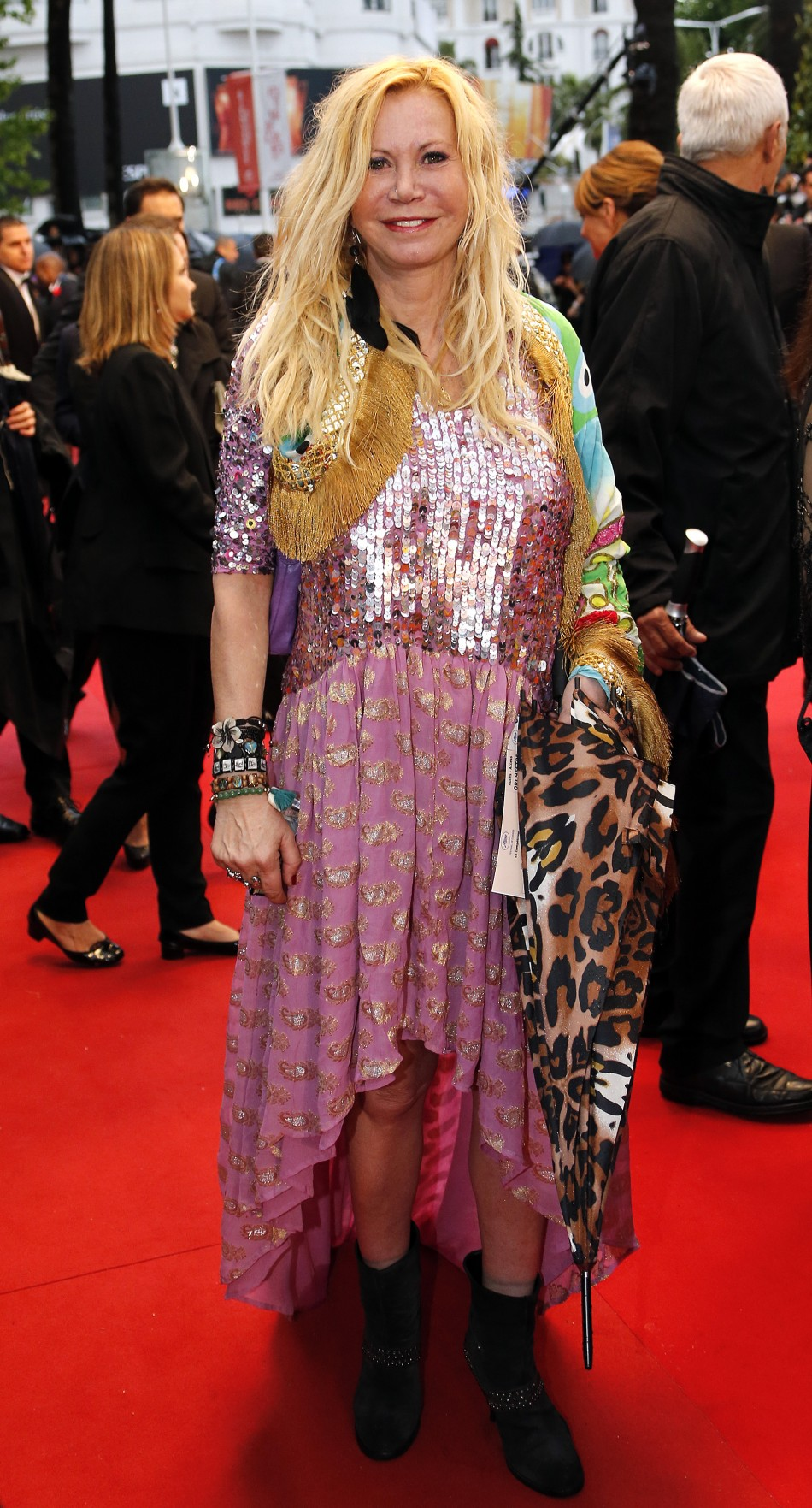Actress Fiona Gelin poses on the red carpet as she arrives for the screening of the film Jimmy P. Psychotherapy of a Plains Indian in competition at the 66th Cannes Film Festival in Cannes May 18, 2013.