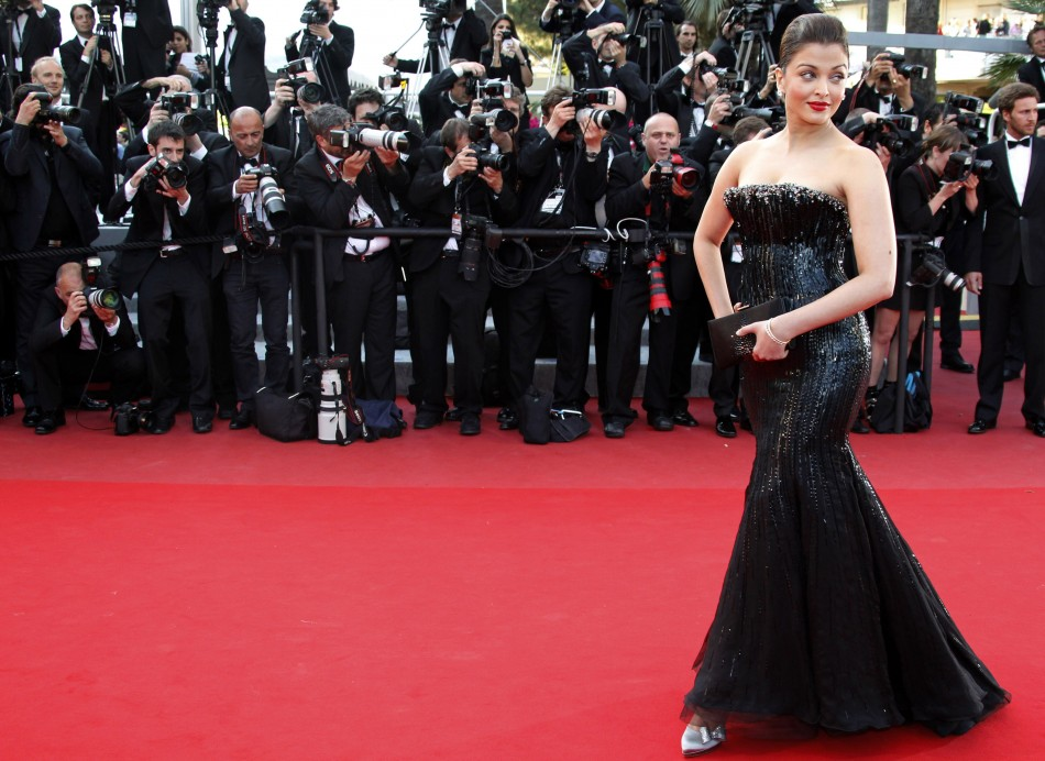 Actress Aishwarya Rai arrives on the red carpet for the screening of