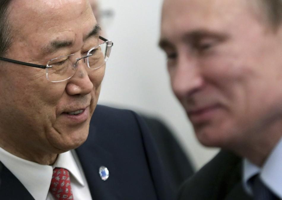 Ban Ki-moon and Putin
