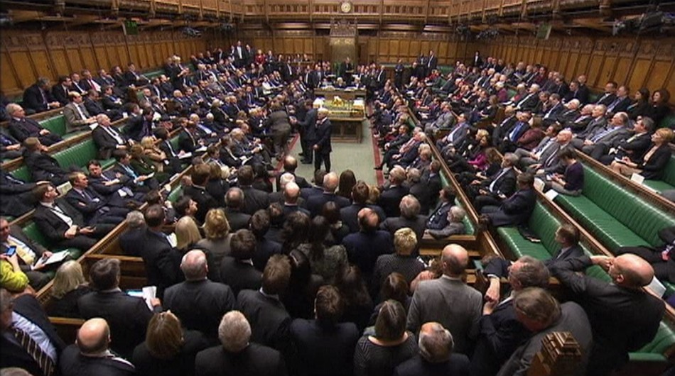 The chamber of the House of Commons