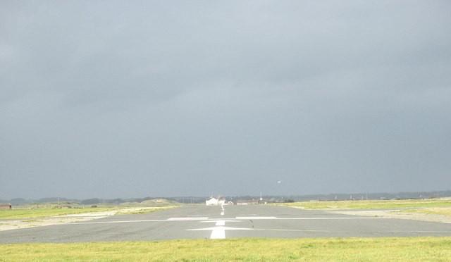 The main runway at Caernarfon Airport