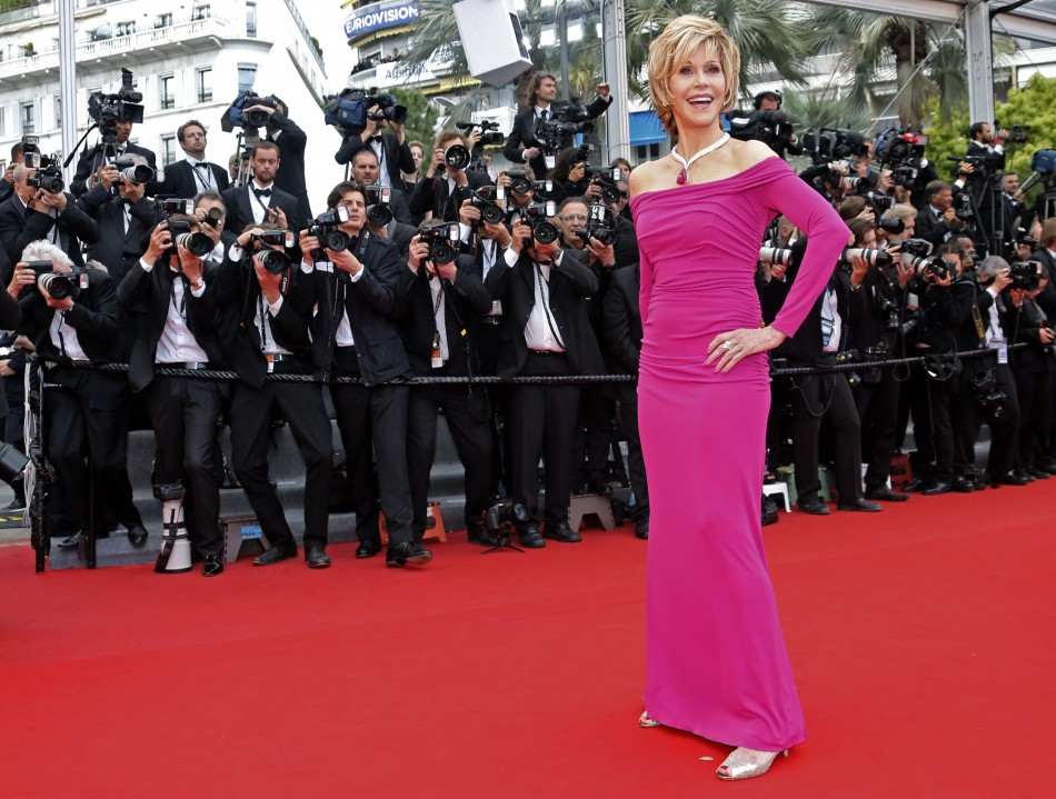 Actress Jane Fonda poses on the red carpet as she arrives for the screening of the film Inside Llewyn Davis in competition during the 66th Cannes Film Festival in Cannes May 19, 2013.