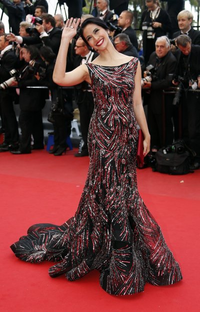 Actress Maudy Koesnadi poses on the red carpet as she arrives for the screening of the film Inside Llewyn Davis in competition during the 66th Cannes Film Festival in Cannes May 19, 2013.