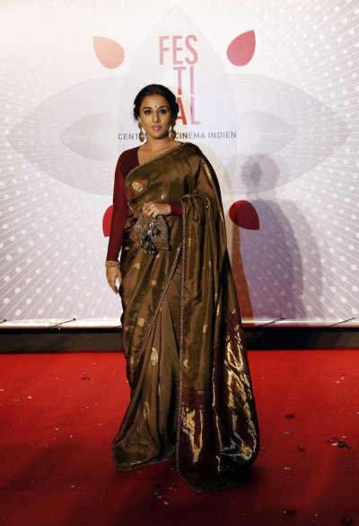 Jury Member actress Vidya Balan poses as she arrives at the evenings gala of the film Bombay Talkies celebrating a hundred years of Indian cinema, during the 66th Cannes Film Festival in Cannes May 19, 2013.