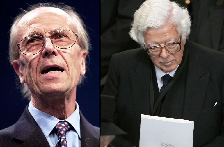 EU clash: Tebbit (l) and Howe