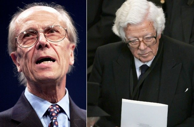 EU clash: Tebbit (l) and Howe