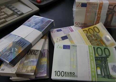 Swiss franc and euro notes