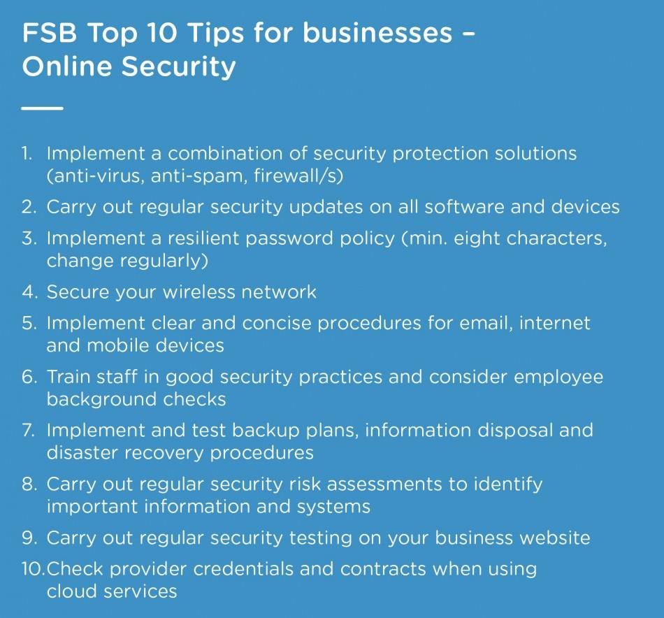 FSB top ten tips