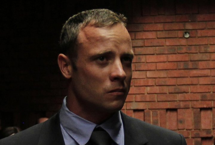 Oscar Pistorius at court hearing for Steenkamp's killing, earlier this year