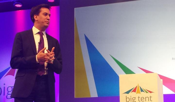 Labour leader Ed Miliband addresses Google's Big Tent