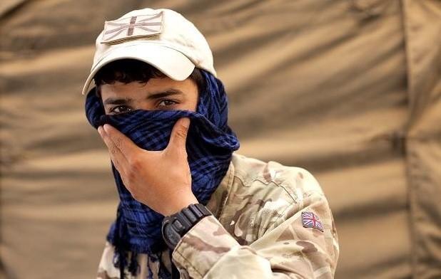 Afghani interpreter for British troops