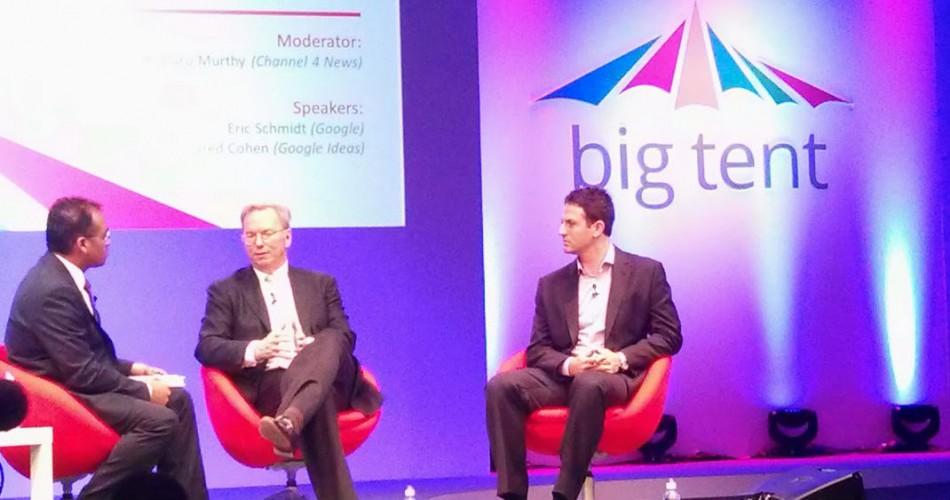 Eric Schmidt @ Google's Big Tent 2013