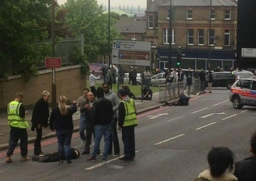 Crowds gather at the Woolwich killing scene