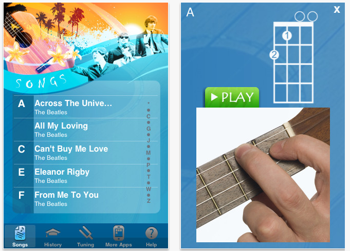 best iphone apps the week beatles ukulele songbook