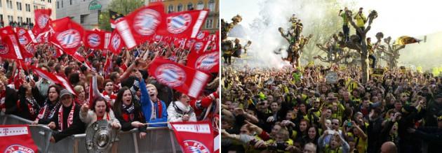 Dortmund and Bayern fans