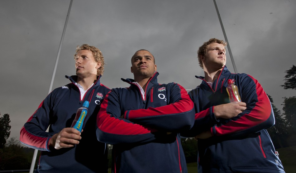Billy Twelvetrees, Jonathan Joseph and Joe Launchbury