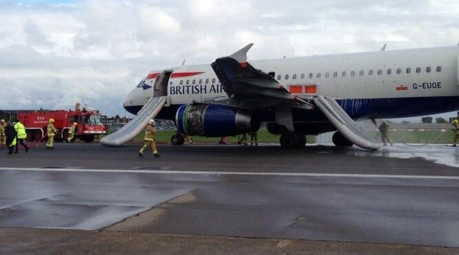 The incident occurred at Heathrow at around 09:00 (Twitter/David Gallagher)