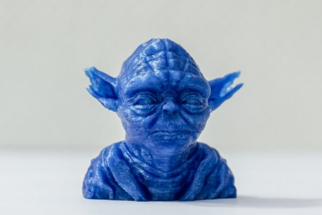 Yoda model made with a 3D printer in Berlin earlier this year.