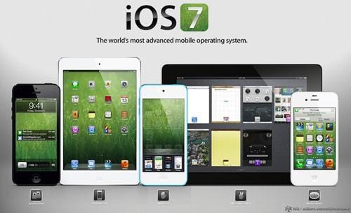 Apple iOS 7 mockup