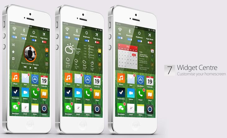 iOS 7 mock up