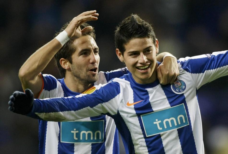 Joao Moutinho and James Rodriguez
