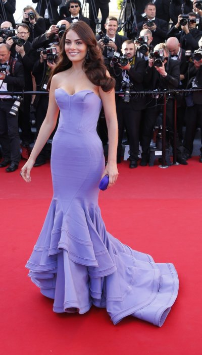 Model Ximena Navarrete poses on the red carpet as she arrives for the screening of the film La Venus a la Fourrure Venus in Fur in competition during the 66th Cannes Film Festival in Cannes May 25, 2013.