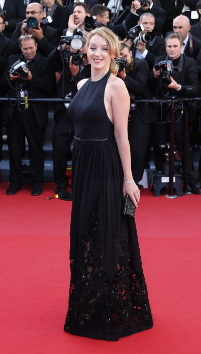 Jury member of Film selection Un Certain Regard actress Ludivine Sagnier poses on the red carpet as she arrives for the screening of the film La Venus a la Fourrure Venus in Fur in competition during the 66th Cannes Film Festival