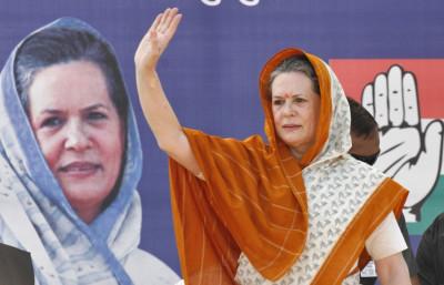 Chief of Indias ruling Congress party Sonia Gandhi