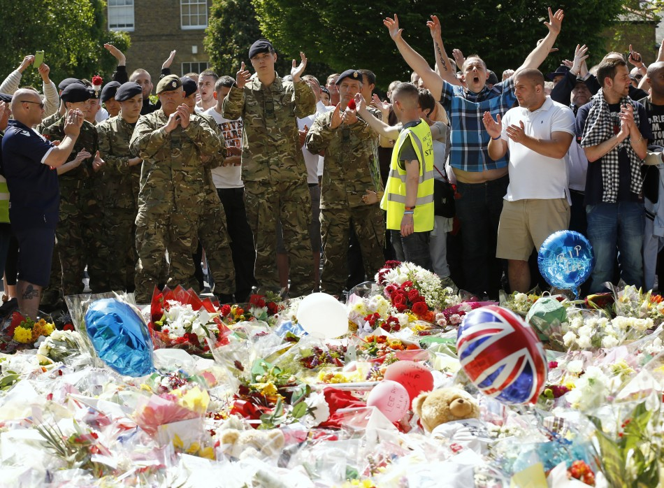 Woolwich floral tribute