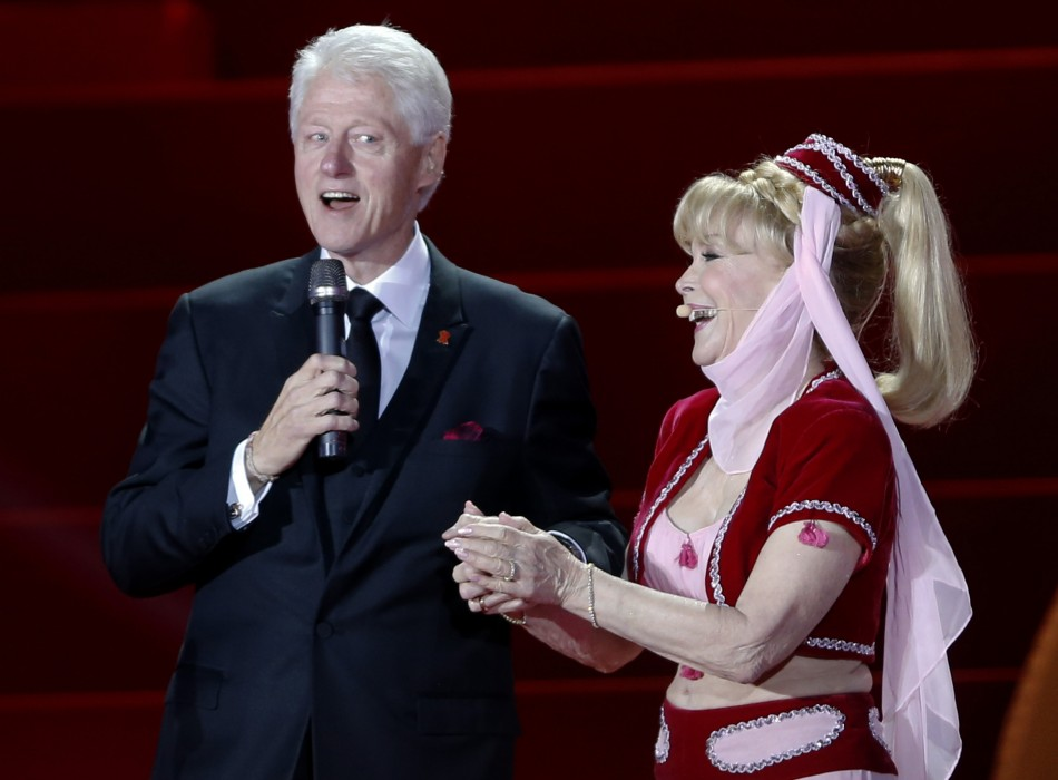 Barbara Eden with Former American President Bill Clinton