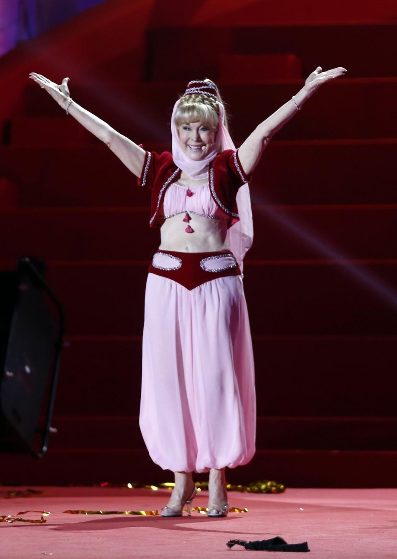 Barbara Eden, 78, gets back into her I Dream of Jeannie crop-top and harem pantaloons