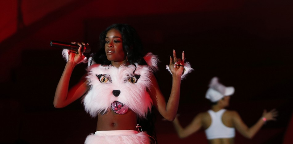 U.S. singer Azealia Banks performs during the opening ceremony of the 21st Life Ball in Vienna