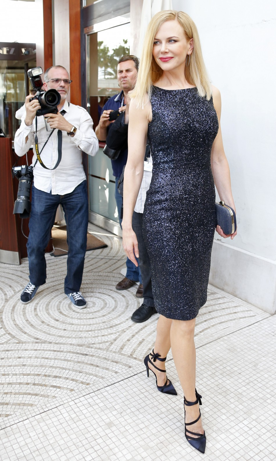 On day one she attended the Jury photo call wearing a very chic Alexander McQueen dress
