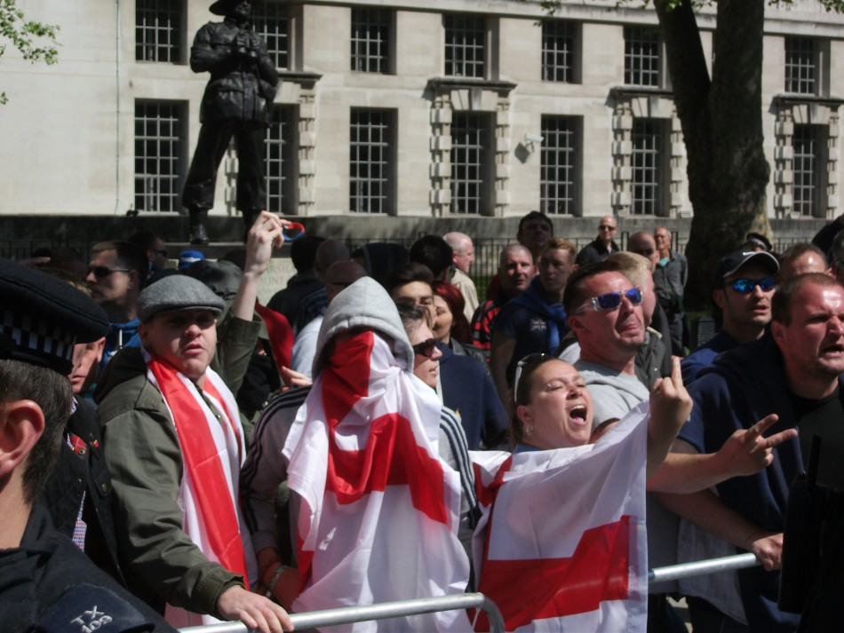 EDL supporters and UAF activitst clashed in Whitehall