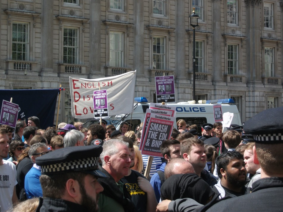 UAF staged a counter demo also in Whitehall