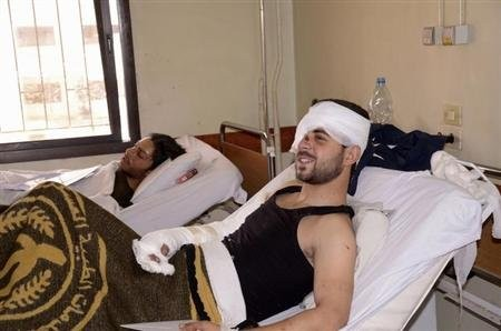 Syrian victims of chemical weapons attacks in Aleppo