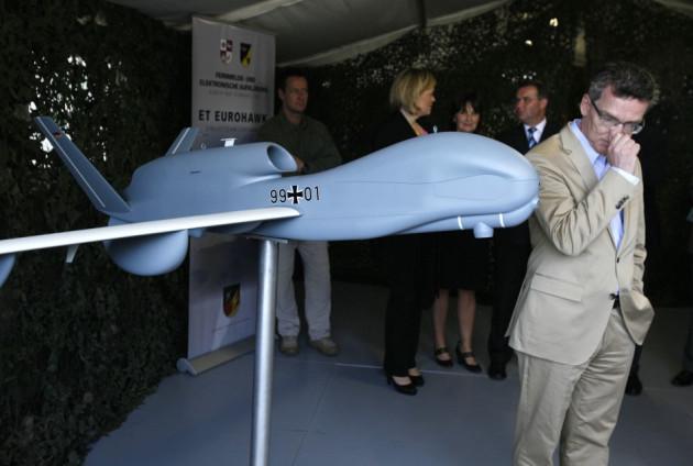 model of a Euro Hawk drone
