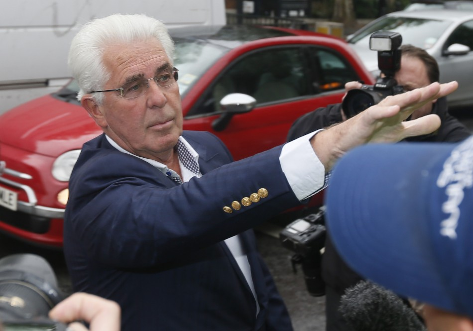 Max Clifford arrives at Westminster Magistrates Court, to face charges of indecent assault (Reuters)