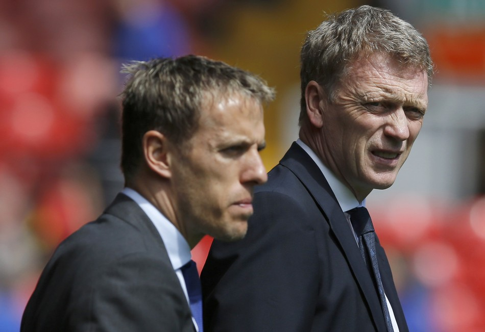Phil Neville and David Moyes