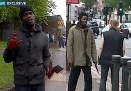 Suspects Michael Adebolajo (l) and Michael Adebowale