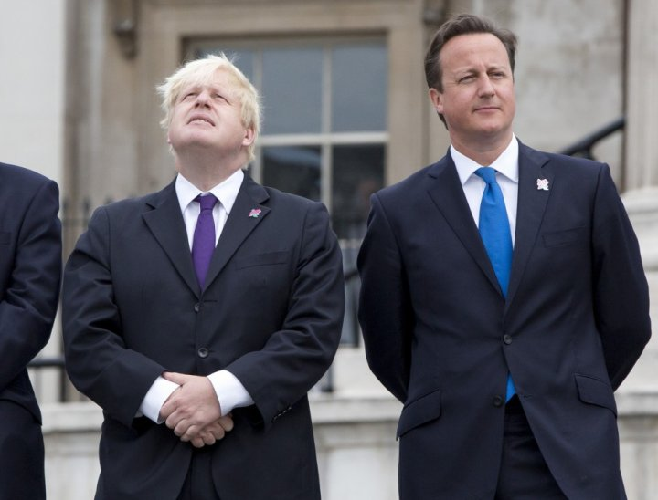 Boris Johnson (l) and PM David Cameron