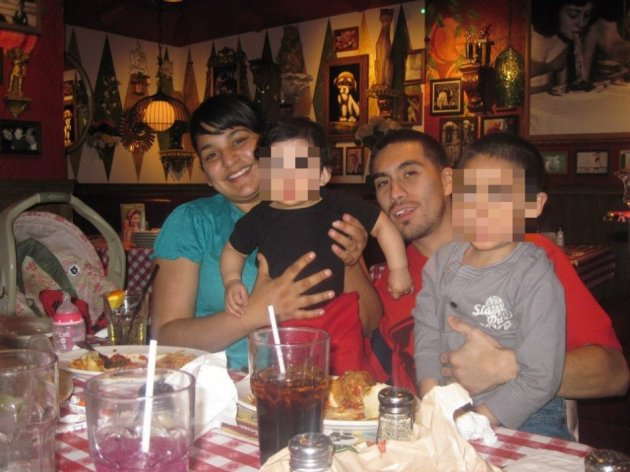 Luis Briones and his family