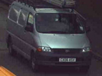 Police are also appealing fir information about this a silver Toyota Hiace 300 GS van