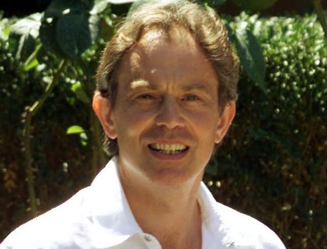 High life: Tony Blair in Tuscany