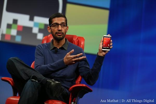 Google's Sundar Pichai HTC One Google Edition
