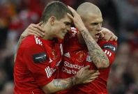 Martin Skrtel and Daniel Agger