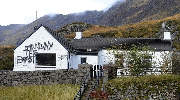 The cottage was the target of vandals after it emerged Jimmy Savile was a peadophile (Reuters)