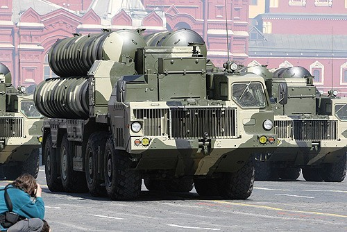 S-300 anti-aircraft missile system at the Victory Parade, Red Square,