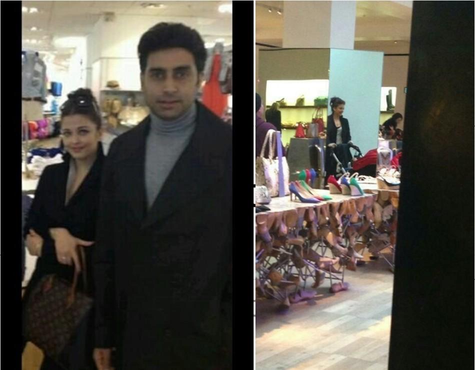 Aishwarya Rai Bachchan Spotted Shopping in London
