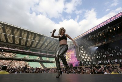 Singer Rita Ora performs at The Sound of Change concert
